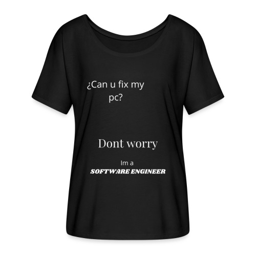Software engineer - Camiseta mujer con mangas murciélago de Bella + Canvas
