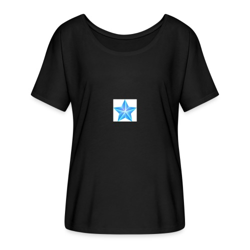 blue themed christmas star 0515 1012 0322 4634 SMU - Women's Batwing-Sleeve T-Shirt by Bella + Canvas