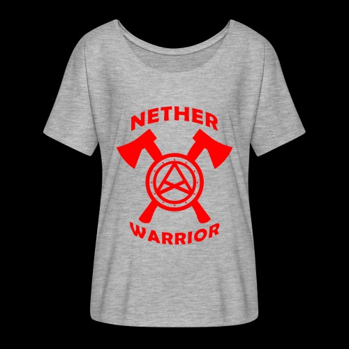 Nether Warrior T-shirt - Maglietta da donna con maniche a pipistrello di Bella + Canvas