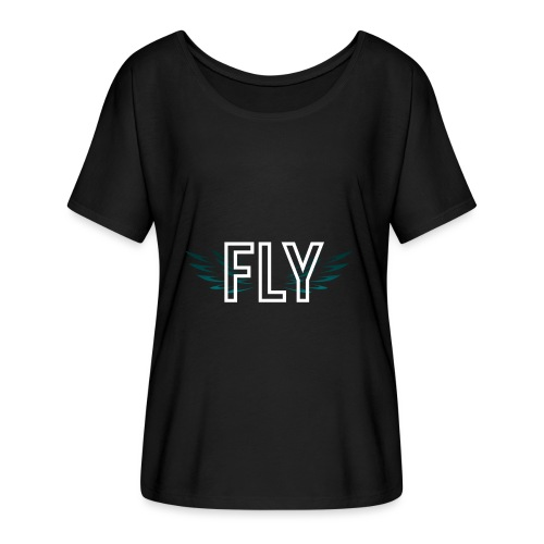Wings Fly Design - Women's Batwing-Sleeve T-Shirt by Bella + Canvas