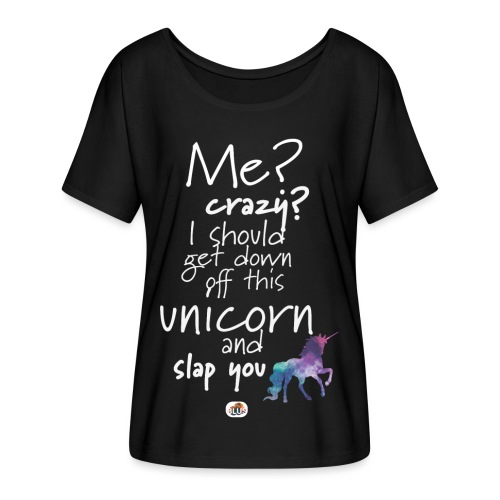 Crazy Unicorn - Light with picture - Women's Batwing-Sleeve T-Shirt by Bella + Canvas