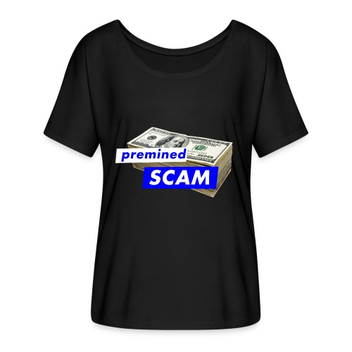 premined SCAM - Women's Batwing-Sleeve T-Shirt by Bella + Canvas