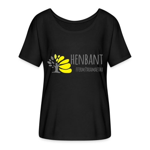henbant logo - Women's Batwing-Sleeve T-Shirt by Bella + Canvas