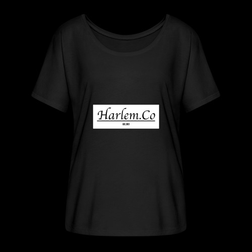 Harlem Co logo White and Black - Women's Batwing-Sleeve T-Shirt by Bella + Canvas
