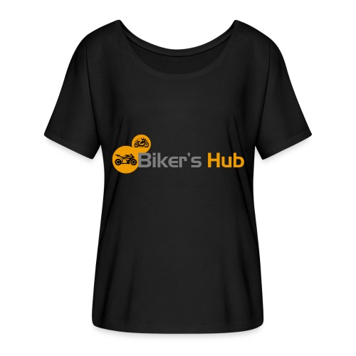 Biker's Hub Small Logo - Women's Batwing-Sleeve T-Shirt by Bella + Canvas