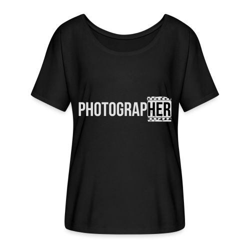 Photographing-her - Women's Batwing-Sleeve T-Shirt by Bella + Canvas