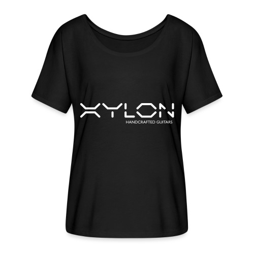 Xylon Handcrafted Guitars (name only logo white) - Flowy Women's T-Shirt by Bella + Canvas
