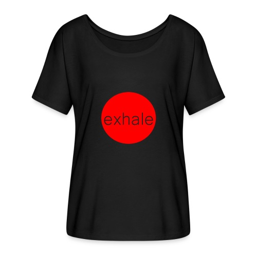 exhale - Women's Batwing-Sleeve T-Shirt by Bella + Canvas