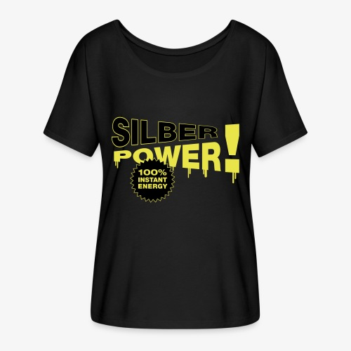 SilberPower! - Dame T-shirt med flagermusærmer fra Bella + Canvas
