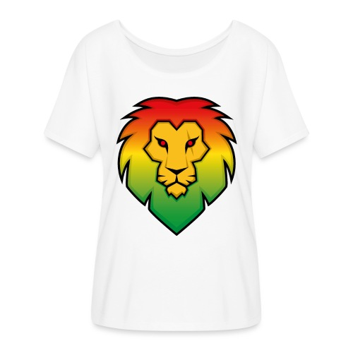 Ragga Lion - Women's Batwing-Sleeve T-Shirt by Bella + Canvas