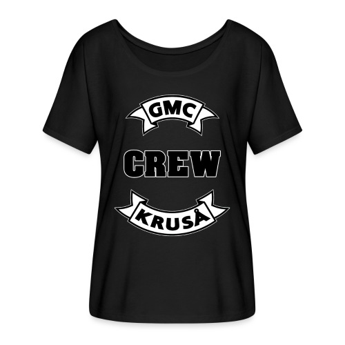GMC CREWSHIRT - KUN FOR / CREW MEMBERS ONLY - Dame T-shirt med flagermusærmer fra Bella + Canvas