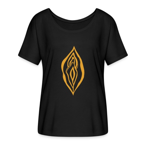Yoni Magic Gold Queen Female Power Pussy Power - Women's Batwing-Sleeve T-Shirt by Bella + Canvas