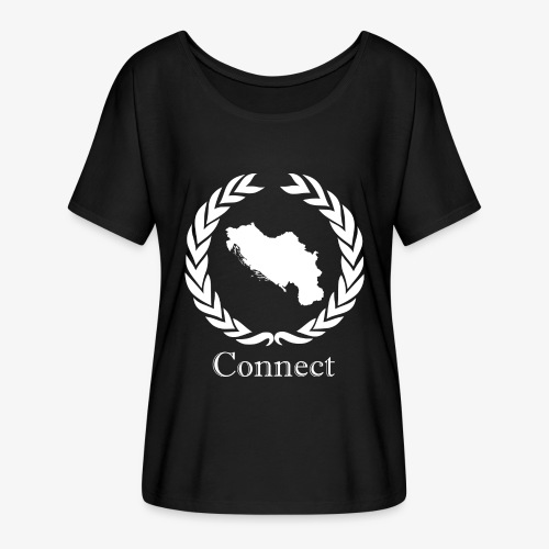 CONNECT COLLECTION LMTD. EDITION WHITE - Women's Batwing-Sleeve T-Shirt by Bella + Canvas