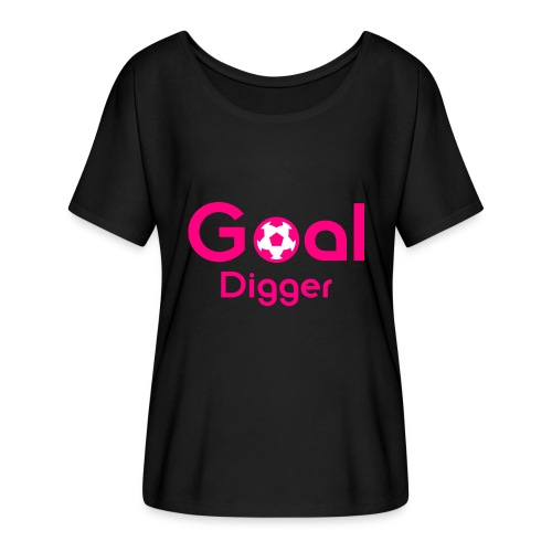 Goal Digger Pink - Women's Batwing-Sleeve T-Shirt by Bella + Canvas