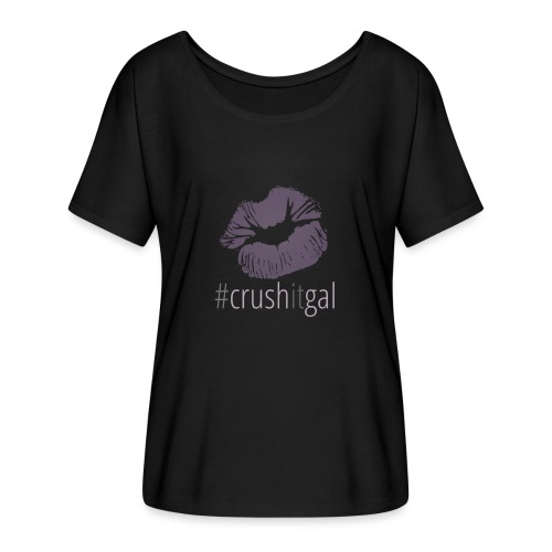 #crushitgal - Women's Batwing-Sleeve T-Shirt by Bella + Canvas