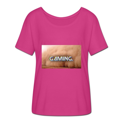 GamingDust LOGO - Women's Batwing-Sleeve T-Shirt by Bella + Canvas