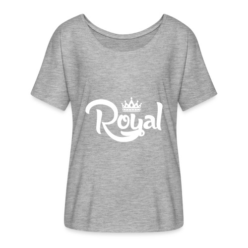 Royal Logo White Edition - Women's Batwing-Sleeve T-Shirt by Bella + Canvas