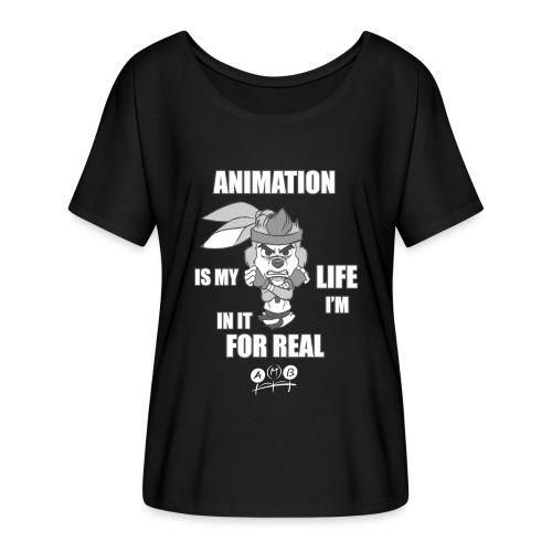 AMB Animation - In It For REAL - Women's Batwing-Sleeve T-Shirt by Bella + Canvas