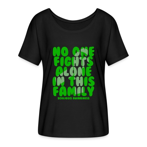 Scoliosis No One Fights Alone in this Family - Women's Batwing-Sleeve T-Shirt by Bella + Canvas