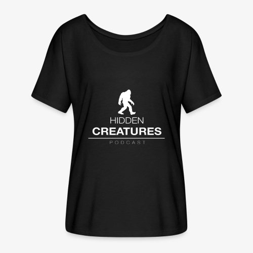 Hidden Creatures Logo White - Women's Batwing-Sleeve T-Shirt by Bella + Canvas