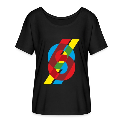 colorful numbers - Women's Batwing-Sleeve T-Shirt by Bella + Canvas