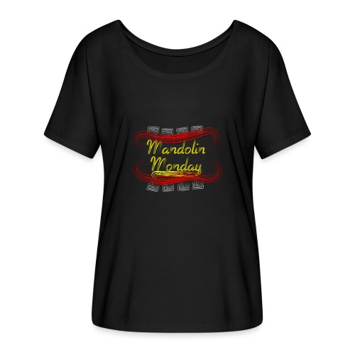 Mandolin Monday - Women's Batwing-Sleeve T-Shirt by Bella + Canvas