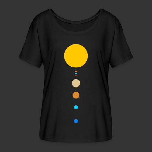 Solar System - Women's Batwing-Sleeve T-Shirt by Bella + Canvas