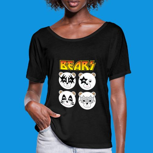 Kiss Bears square.png - Women's Batwing-Sleeve T-Shirt by Bella + Canvas