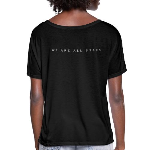 Galaxy Music Lab - We are all stars - Dame T-shirt med flagermusærmer fra Bella + Canvas