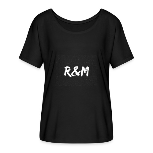 R&M Large Logo tshirt black - Women's Batwing-Sleeve T-Shirt by Bella + Canvas