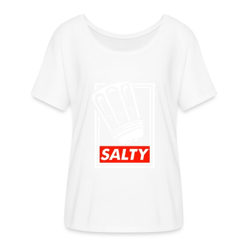 Salty white - Women's Batwing-Sleeve T-Shirt by Bella + Canvas