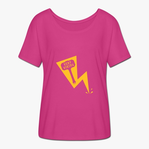 Lightning - Very Viking - Dame T-shirt med flagermusærmer fra Bella + Canvas
