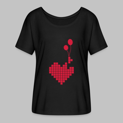 heart and balloons - Women's Batwing-Sleeve T-Shirt by Bella + Canvas