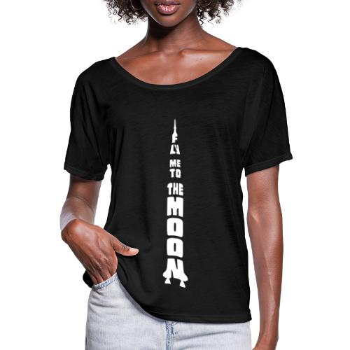 Fly me to the moon - Casual vrouwen T-shirt van Bella + Canvas