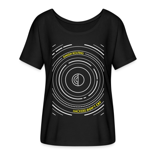 Onion Routing - Flowy Women's T-Shirt by Bella + Canvas