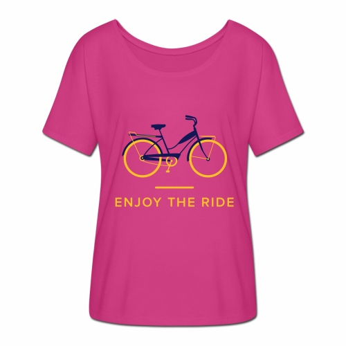 Enjoy The Ride Ladies Retro T-Shirt - Women's Batwing-Sleeve T-Shirt by Bella + Canvas