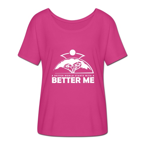 Better Me - White - Women's Batwing-Sleeve T-Shirt by Bella + Canvas