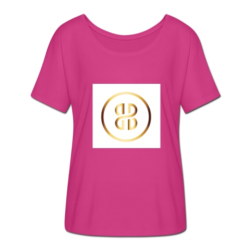 BKI logo circle - Women's Batwing-Sleeve T-Shirt by Bella + Canvas