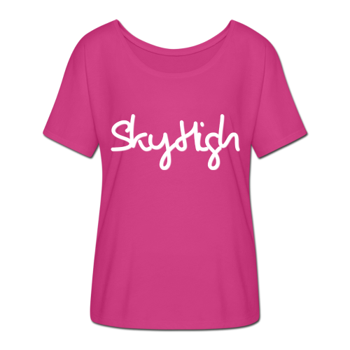 SkyHigh - Snapback - (Printed) White Letters - Women's Batwing-Sleeve T-Shirt by Bella + Canvas