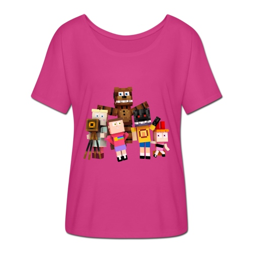 Withered Bonnie Productions - Meet The Gang - Women's Batwing-Sleeve T-Shirt by Bella + Canvas
