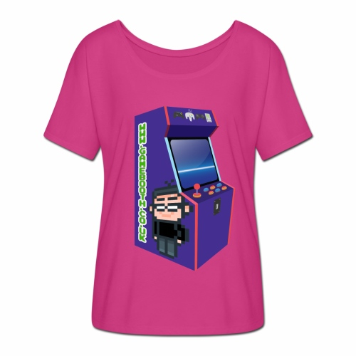 Game Booth Arcade Logo - Women's Batwing-Sleeve T-Shirt by Bella + Canvas