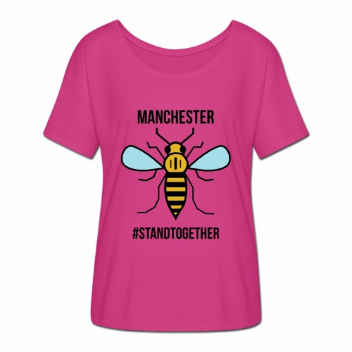 Manchester Bee - Women's Batwing-Sleeve T-Shirt by Bella + Canvas