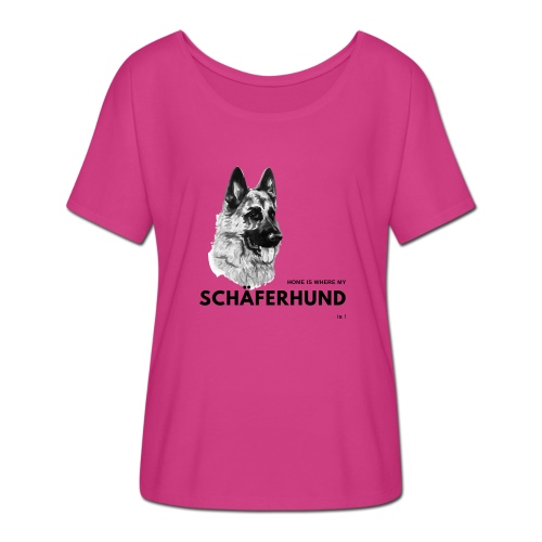 Home is where my Schäferhund is ! - Frauen T-Shirt mit Fledermausärmeln von Bella + Canvas