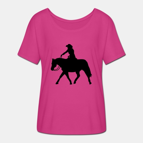 Ranch Riding extendet Trot - Frauen T-Shirt mit Fledermausärmeln von Bella + Canvas