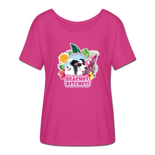 More Dog-Friendly Beaches - Women's Batwing-Sleeve T-Shirt by Bella + Canvas