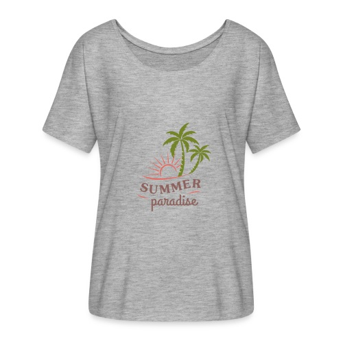Summer paradise - Women's Batwing-Sleeve T-Shirt by Bella + Canvas