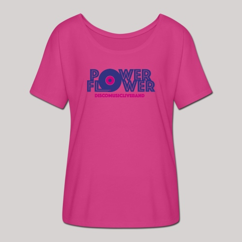 Logo PowerFlower colori - Maglietta da donna con maniche a pipistrello di Bella + Canvas