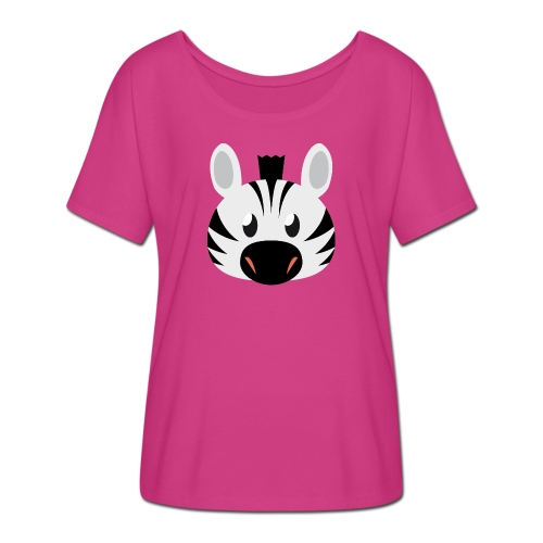 Zebra Zoe - Women's Batwing-Sleeve T-Shirt by Bella + Canvas