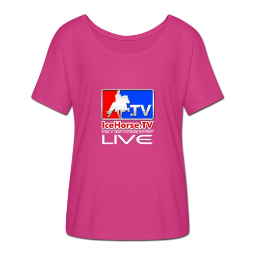 IceHorse logo - Women's Batwing-Sleeve T-Shirt by Bella + Canvas