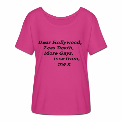 Dear Hollywood - Women's Batwing-Sleeve T-Shirt by Bella + Canvas